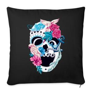 Skull Floral -  Kissenbezug *black - Sofakissenbezug 44 x 44 cm