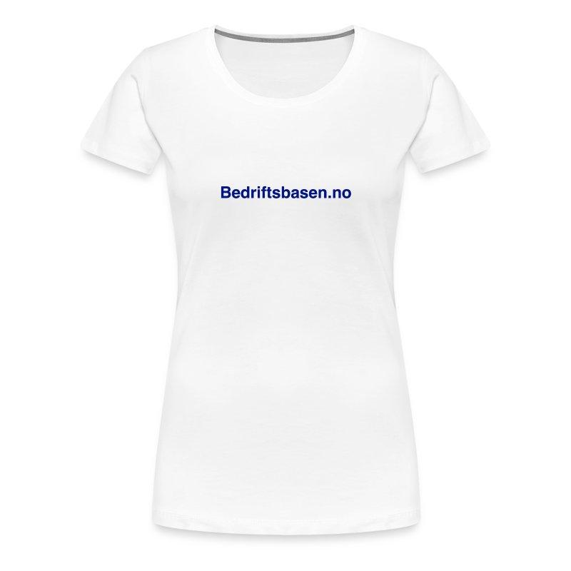 Bedriftsbasen.no logo - Premium T-skjorte for kvinner