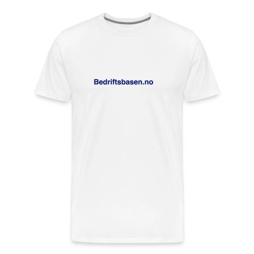 Bedriftsbasen.no logo - Premium T-skjorte for menn