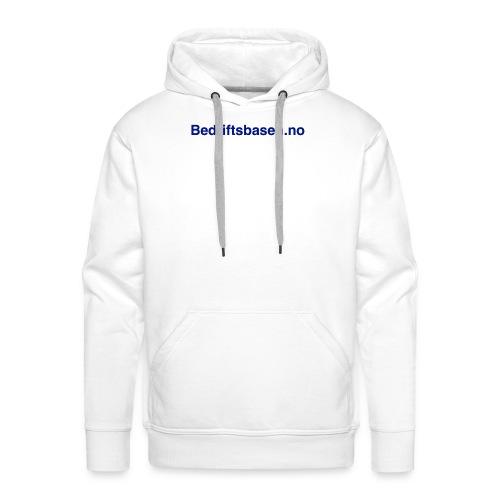 Bedriftsbasen.no logo - Premium hettegenser for menn
