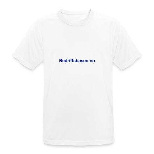 Bedriftsbasen.no logo - Pustende T-skjorte for menn