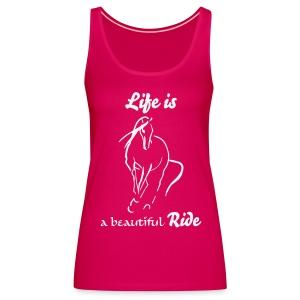 Life is Tank Top - Frauen Premium Tank Top