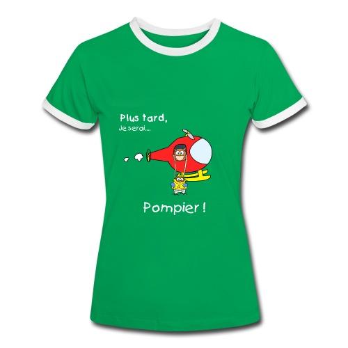 Camiseta contraste mujer