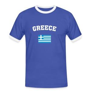 Greece - Männer Kontrast-T-Shirt