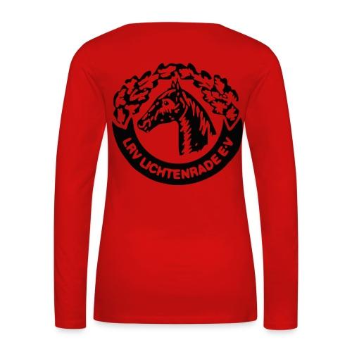 Langarmshirt mit LRV-Logo auf dem Rücken - Frauen Premium Langarmshirt