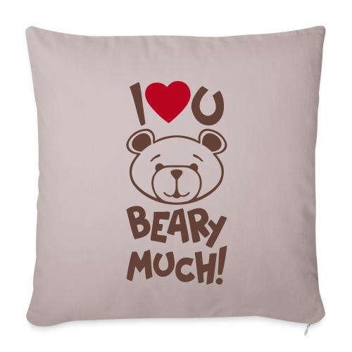 Cute Bear Valentine Pillow Cover - Sofa pillowcase 17,3'' x 17,3'' (45 x 45 cm)