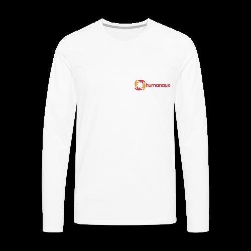 Männer Langarmshirt (weiß) - Männer Premium Langarmshirt