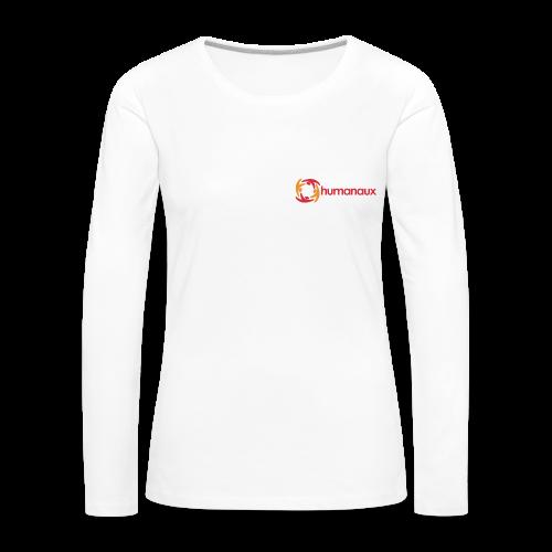 Frauen Langarmshirt (weiß) - Frauen Premium Langarmshirt