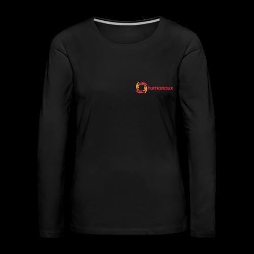 Frauen Langarmshirt (schwarz) - Frauen Premium Langarmshirt