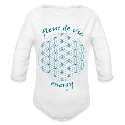 Body manches longues Bébé Fleur de Vie - Organic Longsleeve Baby Bodysuit