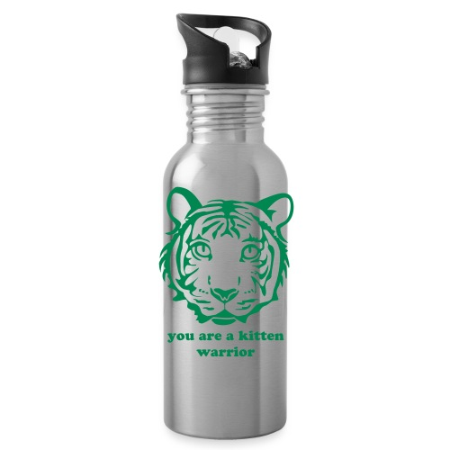 kitten warrior water bottle - Water Bottle