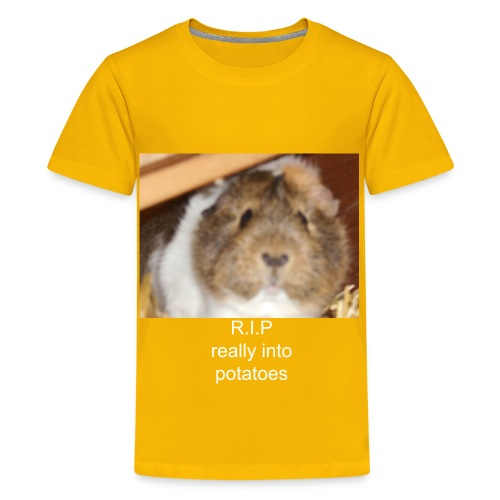R.I.P really into potatoes - Teenage Premium T-Shirt