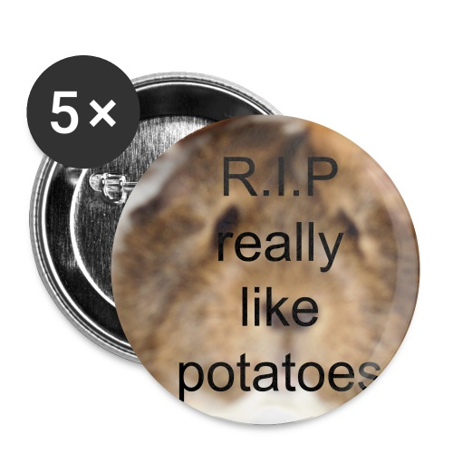 R.I.P really like potatoes buttons small - Buttons small 25 mm