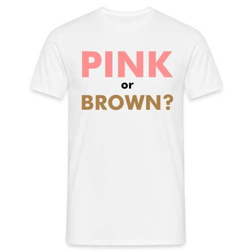 Pink or Brown Logo Back T-shirt - T-shirt herr
