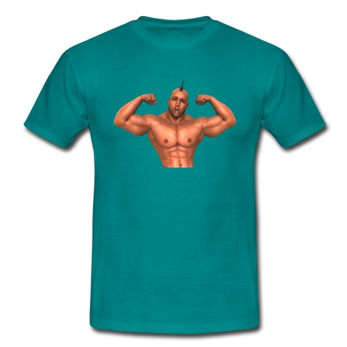 Motivations-T-Shirt blaugrün ohne Text - Männer T-Shirt