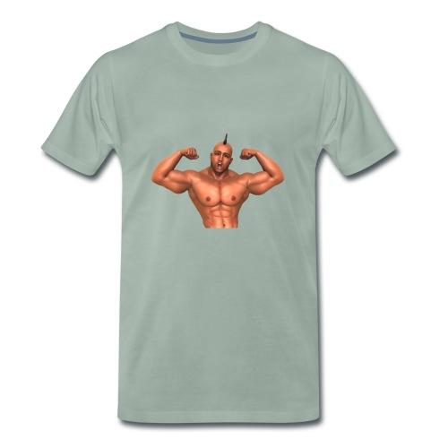 Motivations T-Shirt olivgrüngrau - Männer Premium T-Shirt