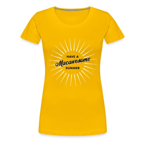 Macawesome Summer - Vrouwen Premium T-shirt