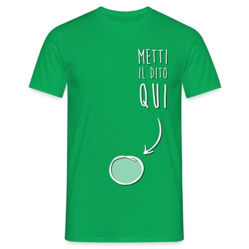 T-Shirt Metti il Dito Qui - Uomo - Maglietta da uomo