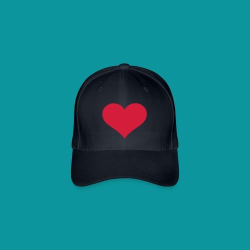 Heart Hat - Flexfit Baseball Cap