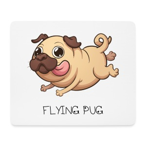 Mousepad FLYING PUG - Mousepad (Querformat)