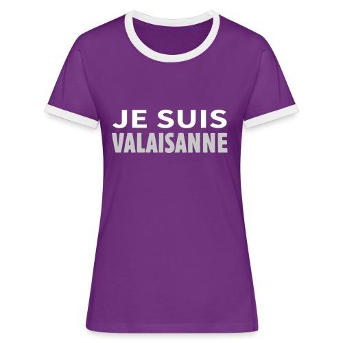 Je suis valaisanne - T-shirt contrasté Femme