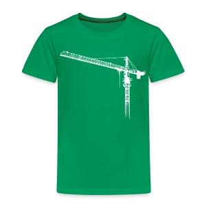 Kran, Turmdrehkran, crane No.: 2 hell (Bitmap) T-Shirts - Kinder Premium T-Shirt