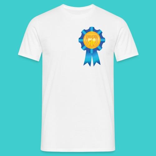 Papa's medaille t-shirt - Mannen T-shirt
