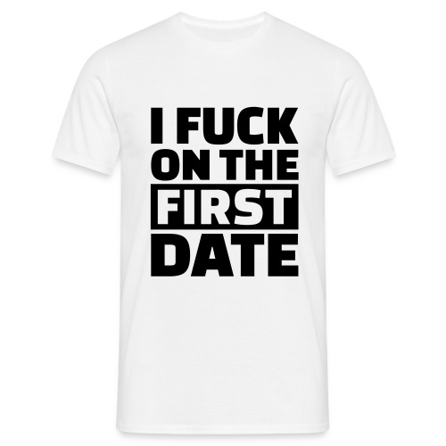 I fuck on the first date Logo back T-shirt - T-shirt herr