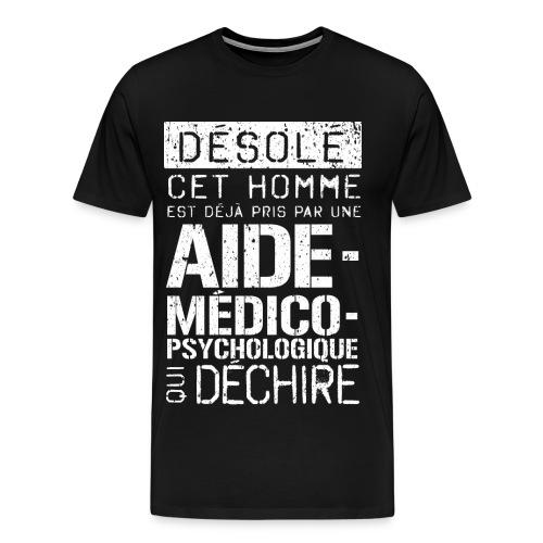 T-shirt Aide-médico-psychologique humoristique AMP  - T-shirt Premium Homme