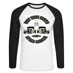 Vintage hot rods parts - Men's Long Sleeve Baseball T-Shirt