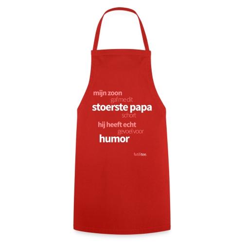 Mijn stoerste papa schort - Keukenschort