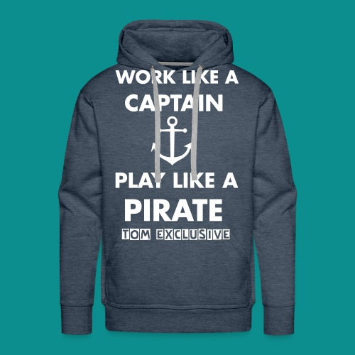 PLAY LIKE A PIRATE PULLOVER / BORDEAUX / MEN - Männer Premium Hoodie