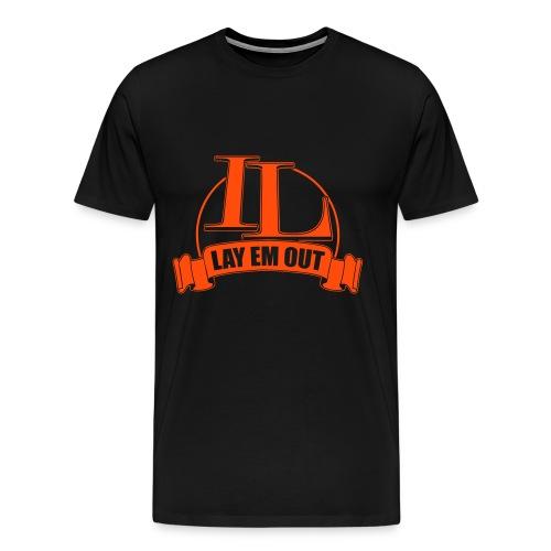 Team Lewison Neon Orange Logo Mens Premium Tee - Men's Premium T-Shirt