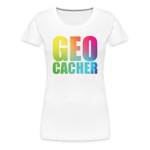 Geocacher Woman - Naisten premium t-paita