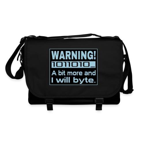 Warning Nerd Spruch Tasche - Umhängetasche
