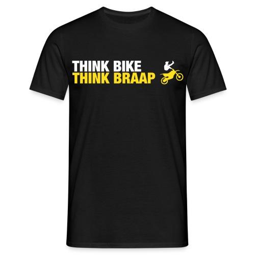 Think Braap Mens T-Shirt (Black) - Men's T-Shirt