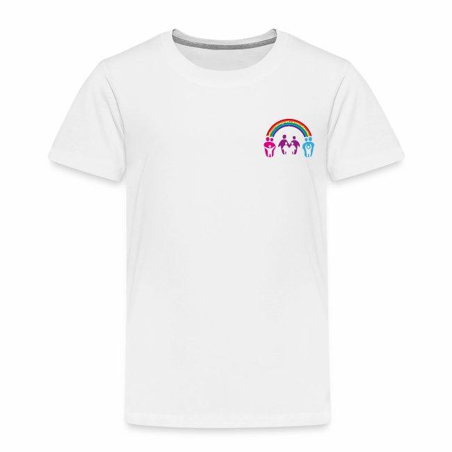 Kinder T-Shirt Regenbogenfamilie