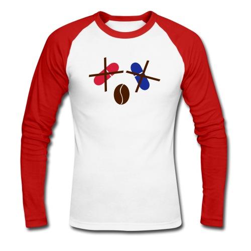 Kaffee statt rote/blaue Pille Shirt - Männer Baseballshirt langarm