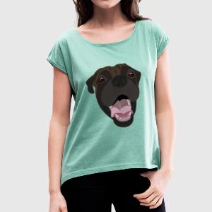 Boxer T-Shirts - Women's T-shirt with rolled up sleeves