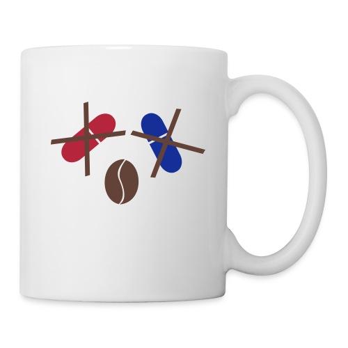 Kaffee statt rote/blaue Tasse - Tasse