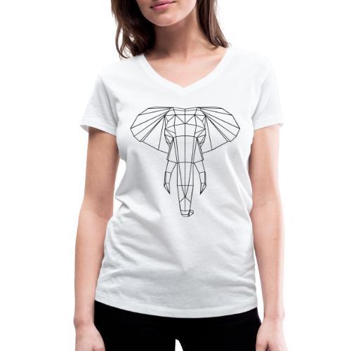 Geometrischer Elefant  - Frauen Bio-T-Shirt mit V-Ausschnitt von Stanley & Stella