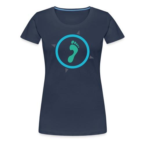 Footsteps Casual T-Shirt - Frauen Premium T-Shirt