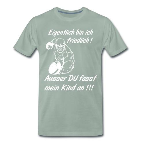 Superpapa weiß - Männer Premium T-Shirt