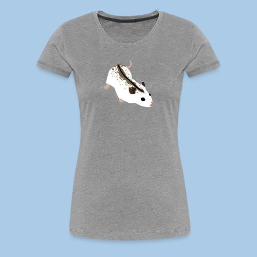 Naisten premium t-paita kiinankääpiöhamsterilla - Naisten premium t-paita