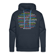 Sweat-shirts ~ Sweat-shirt à capuche Premium pour hommes ~ SMS - 24 citations