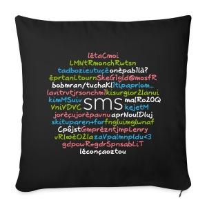 SMS - 24 citations - Housse de coussin décorative 44x 44cm