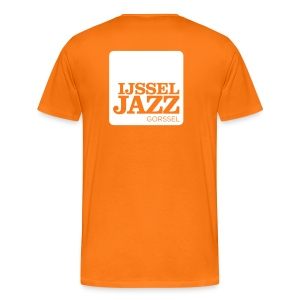 IJsseljazz Tee Logo Orange - Mannen Premium T-shirt