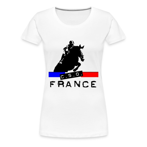 CSO FRANCE F - T-shirt Premium Femme
