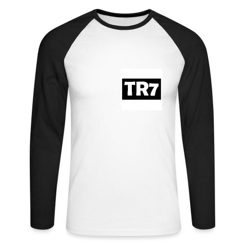 TR7 Long-Sleeved B&W - Men's Long Sleeve Baseball T-Shirt