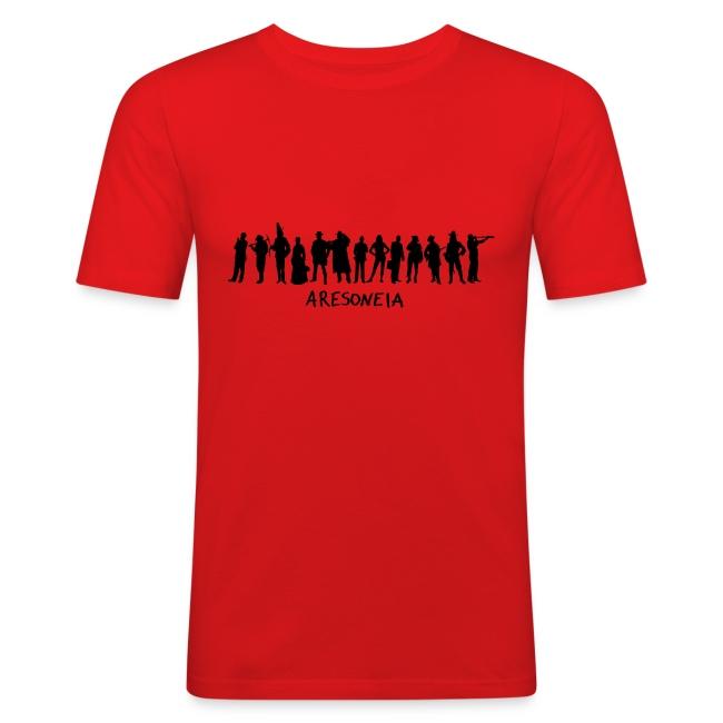 Aresoneia-Silhouetten (Schwarz) - Herren-Slim-Fit-Shirt